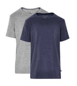 e3e41201 Minymo t-shirts 2 -pak, navy og grå