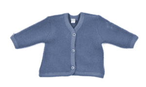 Smallstuff cardigan i uldfleece, denim