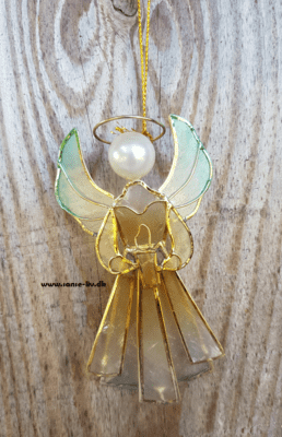 Angel of light, engel af capiz skaller