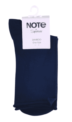 Note by Syversen bambusstrømper roll top, navy