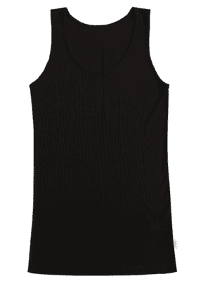 Joha Kate uld og silke tank top dame, sort
