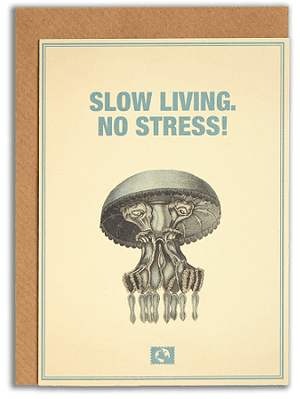 Message Earth kort med kuvert, Slow living...