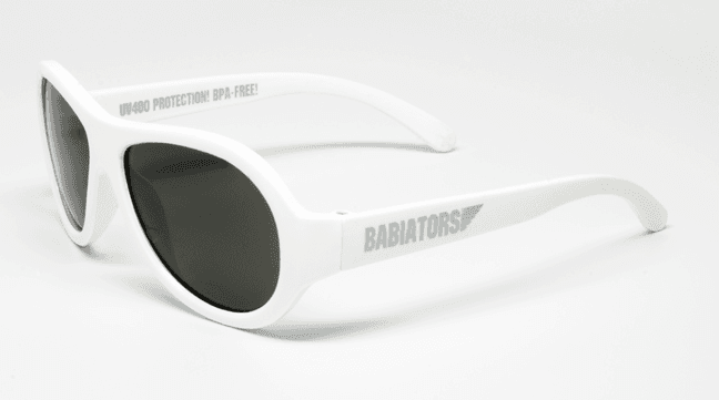 Babiators Aviator solbriller, Wicked white 0-3/3-5 år