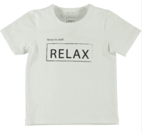 Name it t-shirt, flødefarvet med statement