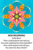 Divine Design mandala kort, A new beginning - indre barn