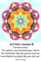 Divine Design mandala kort, Butterfly maiden - transformation